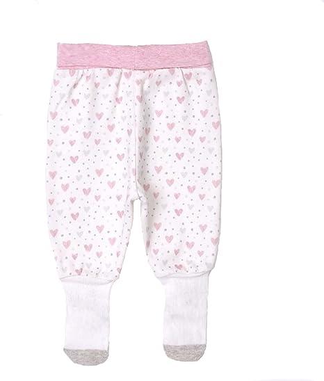 Sevira Kids – Pantalones de bebé con pies de algodón orgánico, GIRLY rosa rosa Talla:1-3M - 56CM: Amazon.es: Bebé