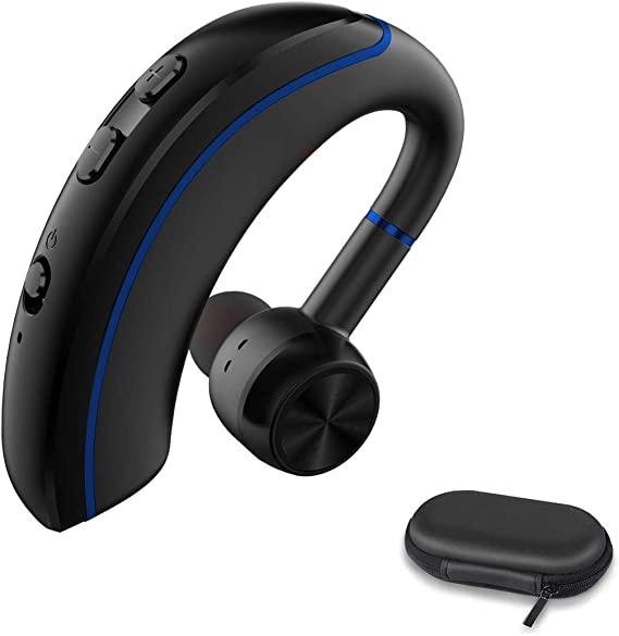 Amazon Com Bluetooth Headset Best Truckers Wireless Business Earpiece With 12 Hours Talktime Mic Handsfree Noise Cancelling Stereo Earphones Compatible Android Cell Phone For Driving Office Skype