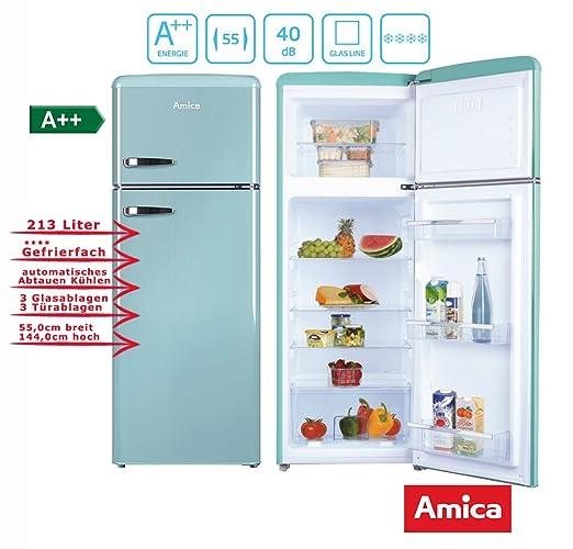 Amica KGC15632T nevera y congelador Independiente Azul A++ ...