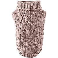 Rehomy - Suéter para perro, diseño de cuello alto con cuello alto para perros pequeños, medianos y grandes