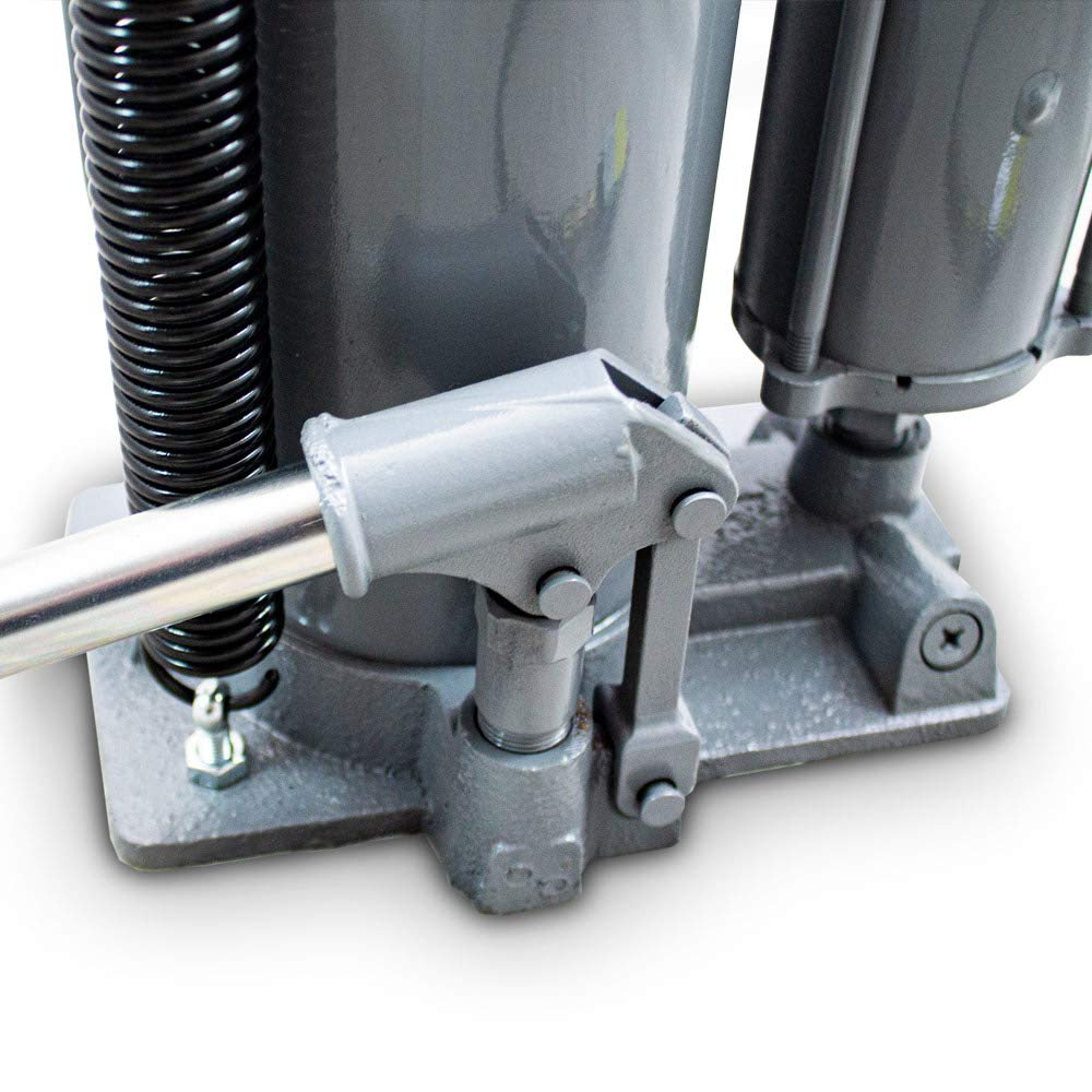 BITUXX/® Hydraulischer Stempelwagenheber Pneumatischer Heber Druckluft bis 20T Manuell oder mit Kompressor Unterst/ützung