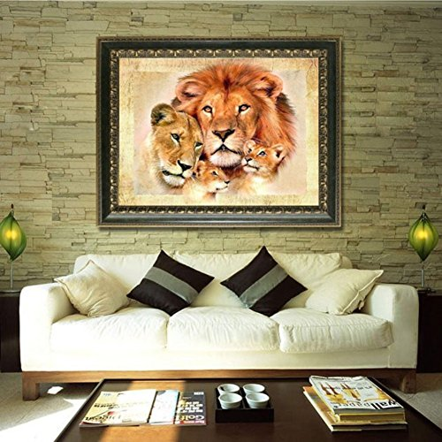 Adarl 5D DIY Diamond Painting Rhinestone Pictures Of Crystals Embroidery Kits Arts, Crafts & Sewing Cross Stitch Lion