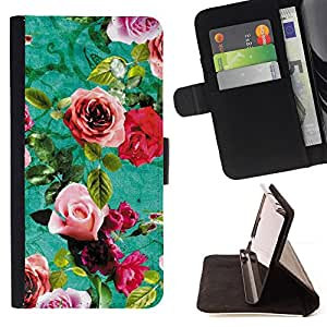 Jordan Colourful Shop - old retro flowers furniture For Sony Xperia m55w Z3 Compact Mini - Leather Case Absorci???¡¯???€????€???????&