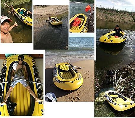 Pota hinchable barco pesca barco yate gruesos Kayak, Dos: Amazon ...