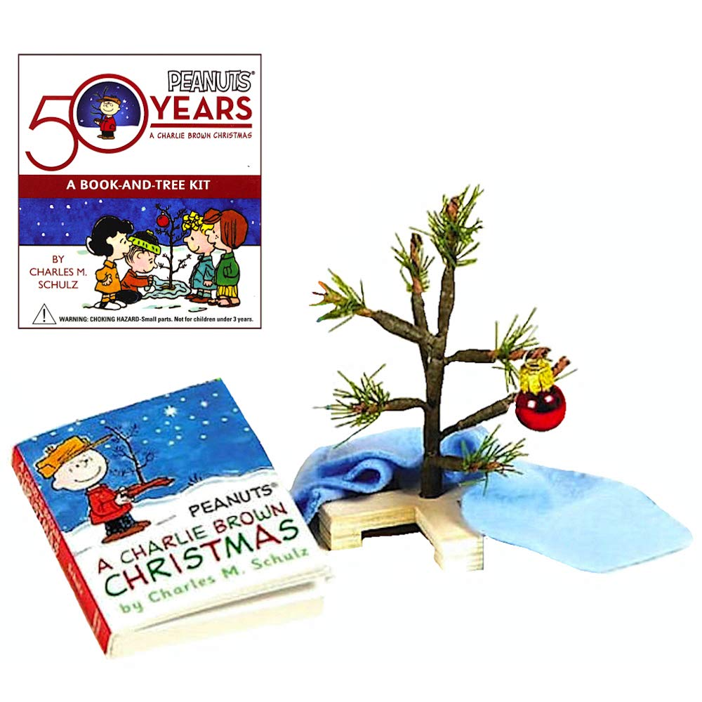 Amazon.com: Deluxe Mega Kit Charlie Brown Christmas Tree Miniature ...