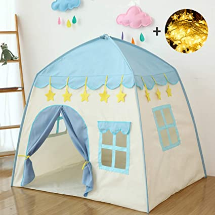 Kids Play Tent with Lights /& Carrying Case Princess Castle Indoor /& Outdoor Use