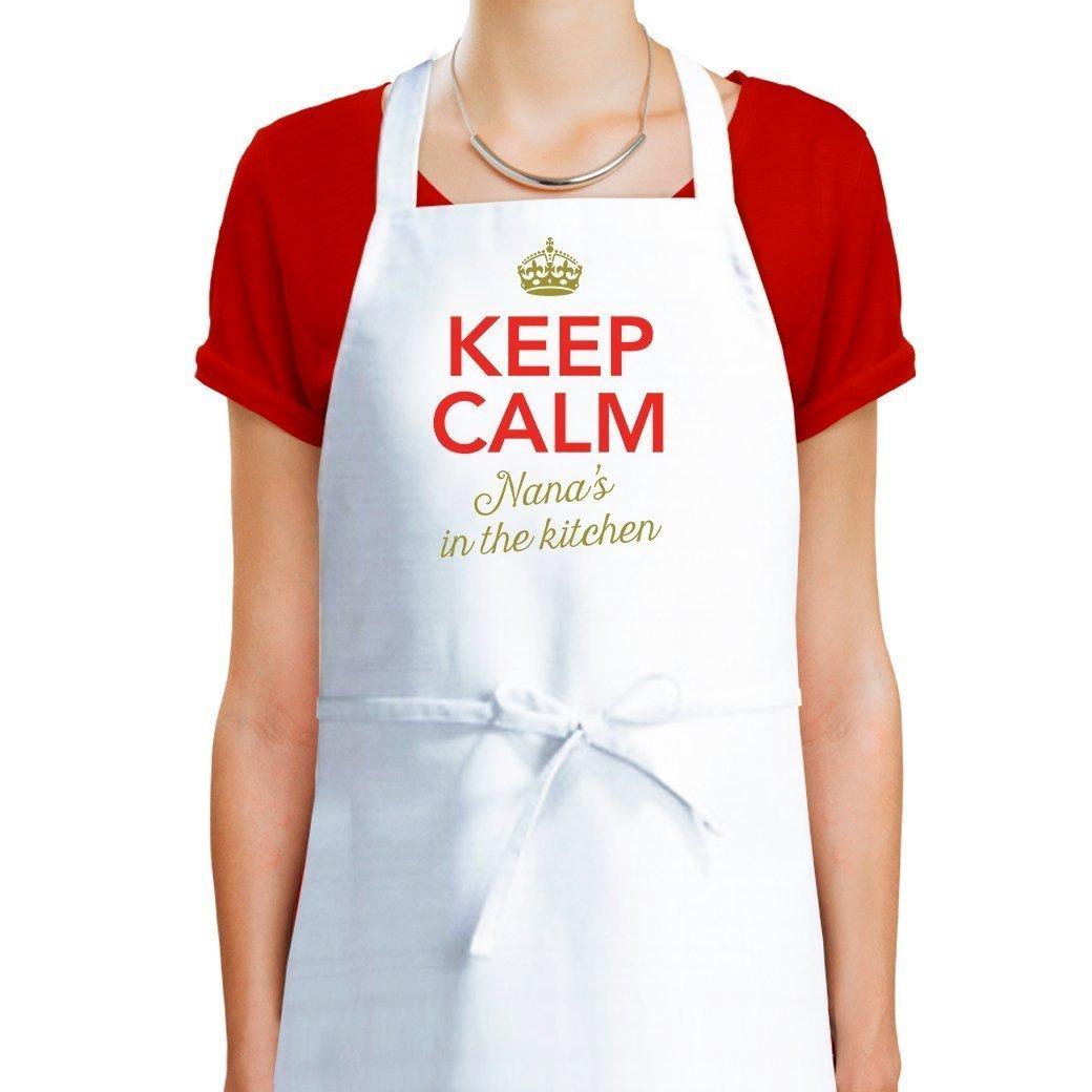 Amazon.com: Nana Apron, Nana Cooking Gift, Keep Calm, Nana\'s In The ...