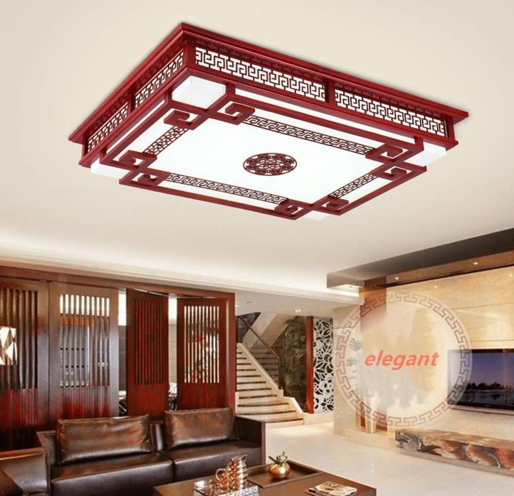 ホットセール 中国のシーリングランプ長方形のリビングルームランプ無垢材アンティークシープスキンランプレストラン寝室ledシーリングランプ (サイズ : B07RM3LNLS 55 :*55CM) B07RM3LNLS 45*45CM 45 (サイズ*45CM, プリントポット:f7cc2e2d --- svecha37.ru