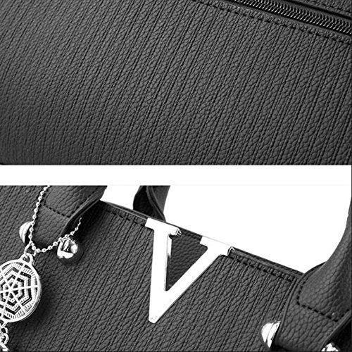 Bolsa Mano De Totalizador Embragues Las Del Compras Bolso Bolsos Del De De Bolsos Mujeres De Hombro De De De Bolso De Manera Mujeres Cuero Los Bolso Bolsos Mujeres Negro Las De Los De Las xTPxwrq