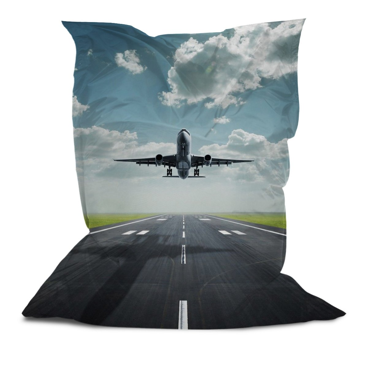 Branded Bean Bag with Printed Plane (5' x 4.4')