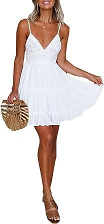 robe blanche dentelle a bretelle