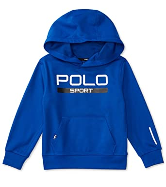 bf7918098f31 Amazon.com  Ralph Lauren Polo Sport Boys Tech Fleece Pullover Hoodie ...