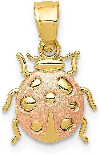 14K Yellow Gold Ladybug Lucky Charm Pendant For Necklace or Chain IG-01-100-0716 Ioka