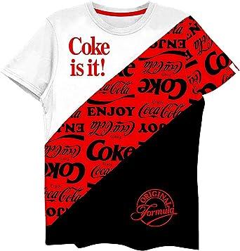 Camisa de Coca Cola para Hombre, diseño con Texto en inglés Have a Coke and a Smile tee