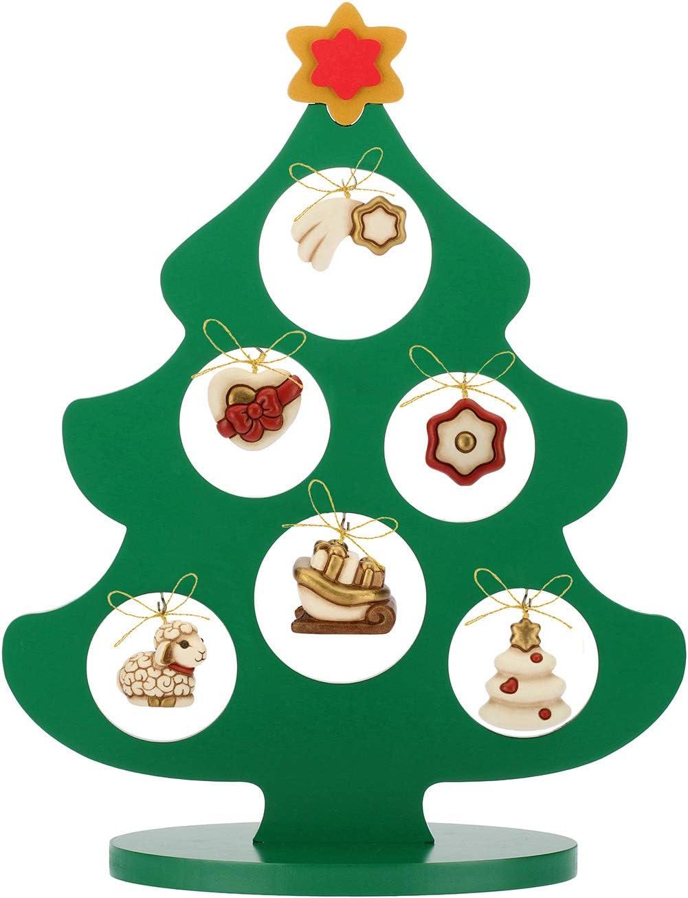 Albero Di Natale Thun Prezzo.Thun Albero Di Natale In Legno Con 6 Mini Addobbi Ceramica H 41 5 Cm Linea I Classici Amazon It Casa E Cucina