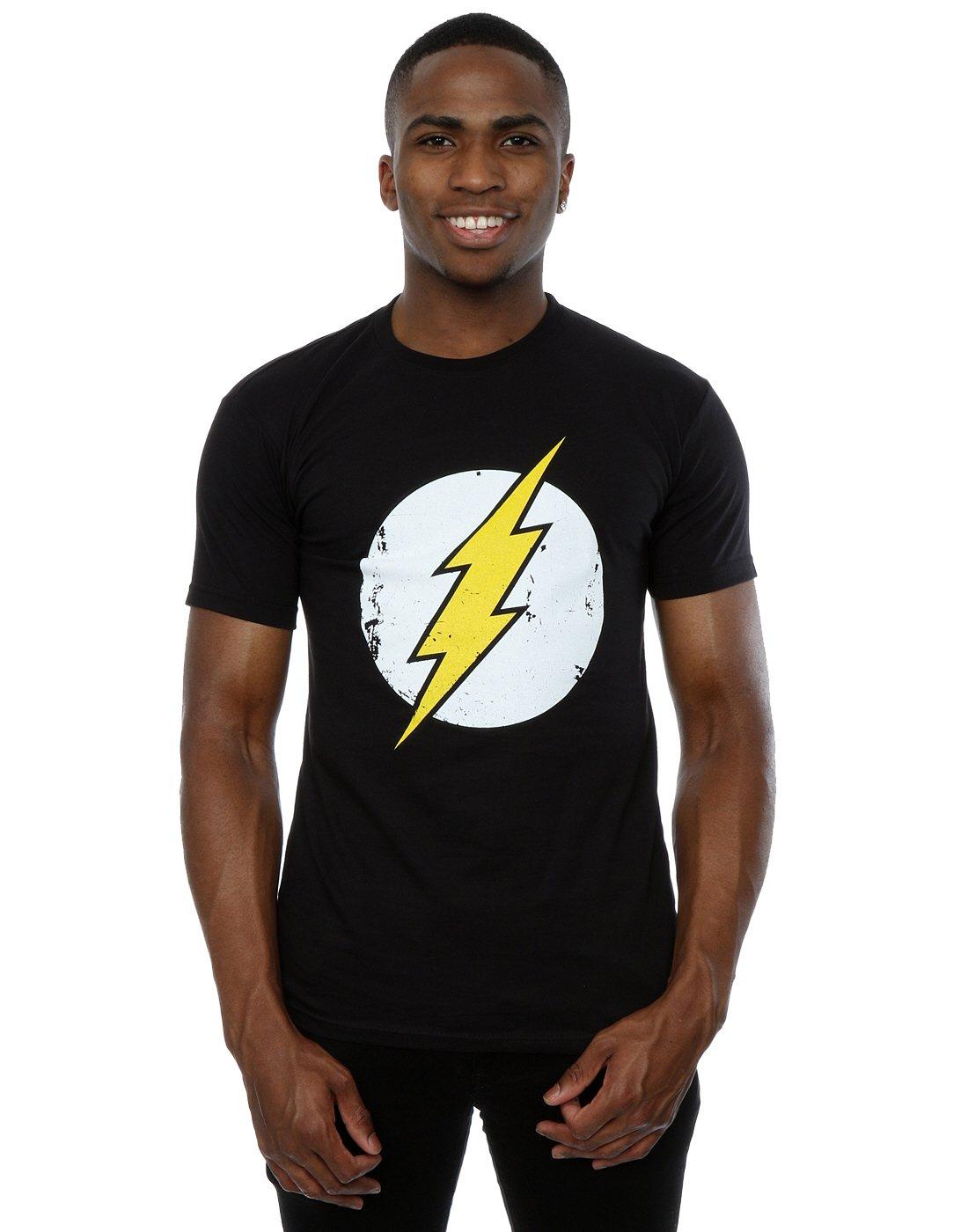 8999b7498a1 DC Comics - Camiseta de Flash con cuello redondo de manga corta para hombre  DC Shoes Pe10793T