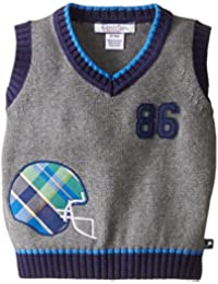 Baby Boys Plaid Applique Sweater Vest