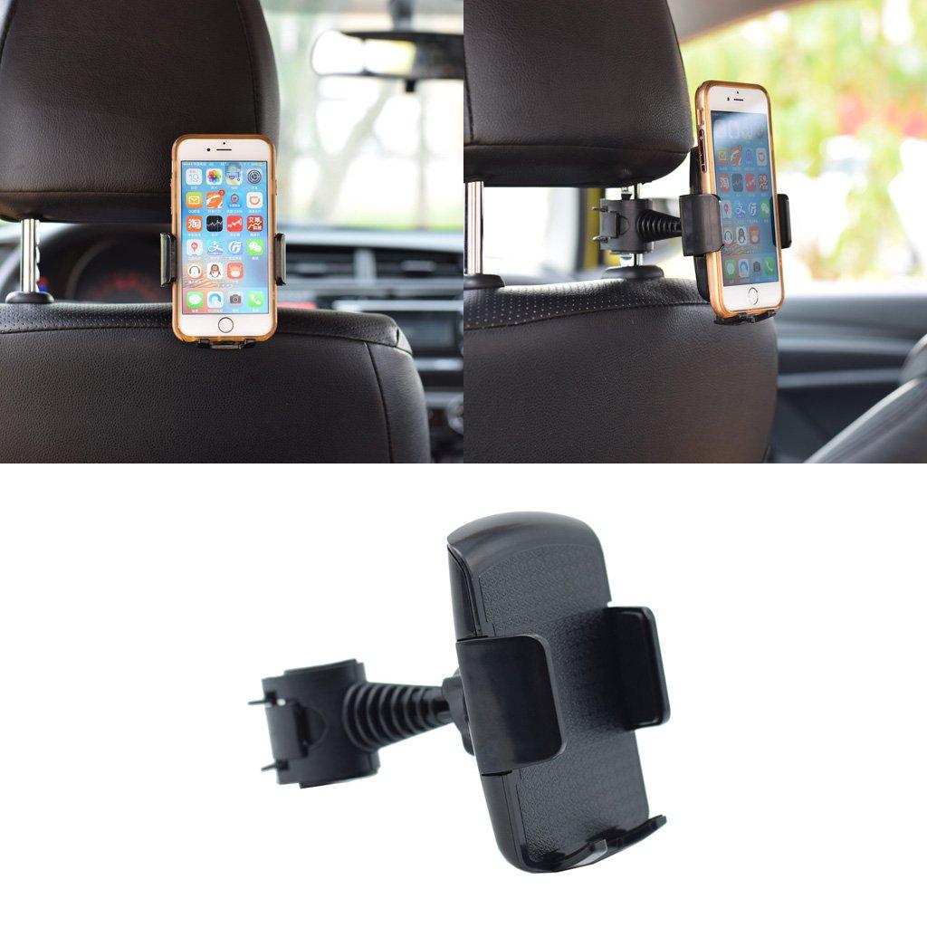 Handyhalter Dairyshop 360 ° drehbarer Auto-Rücksitz -Kopfstütze Halterung Halter für iphone Samsung LG Xiaomi Huawei Ständer 3.5 '-6' intelligentes Telefon, ABS + Silikon, Schwarz, 1PC