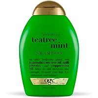 OGX Hydrating TeaTree Mint Shampoo, 13 Ounce Bottle, Moisturizing Shampoo Infused with Australian Tea Tree Oils,   Sulfate-Free