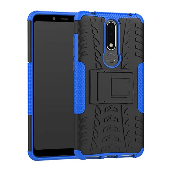 new concept ab40c 414e6 Nokia 3.1 Plus Case, CaseExpert Heavy Duty Shockproof Rugged Impact Armor  Hybrid Kickstand Protective Cover Case for Nokia 3.1 Plus