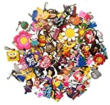 10 Pcs Random Set for Girls Snap Hook Zipper Pull Charms