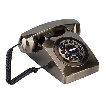 ASHATA Téléphone Filaire dans Un Design rétro, téléphone Fixe Vintage  téléphone Design rétro  3177ecb8ae4b