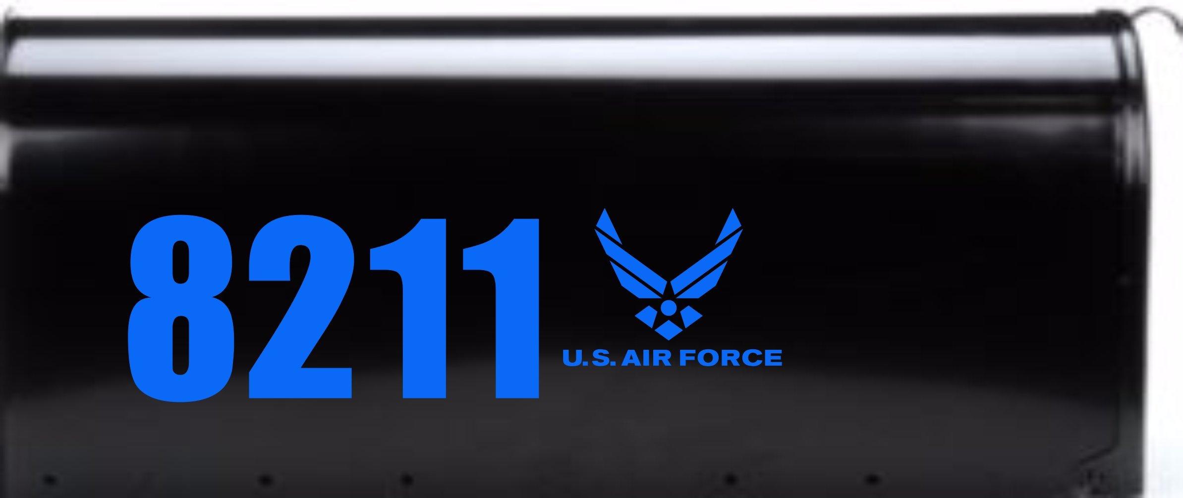 STEBEARS MAILBOX DECALS Airforce Mailbox Number Decals