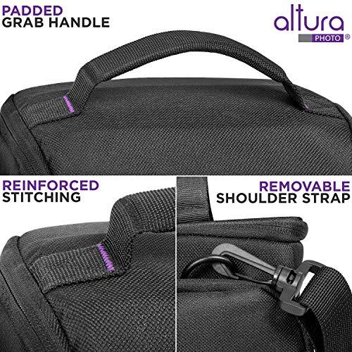 Medium Camera Bag Case by Altura Photo for Nikon, Canon, Sony, Fuji Instax, DSLR, Mirrorless Cameras and Lenses