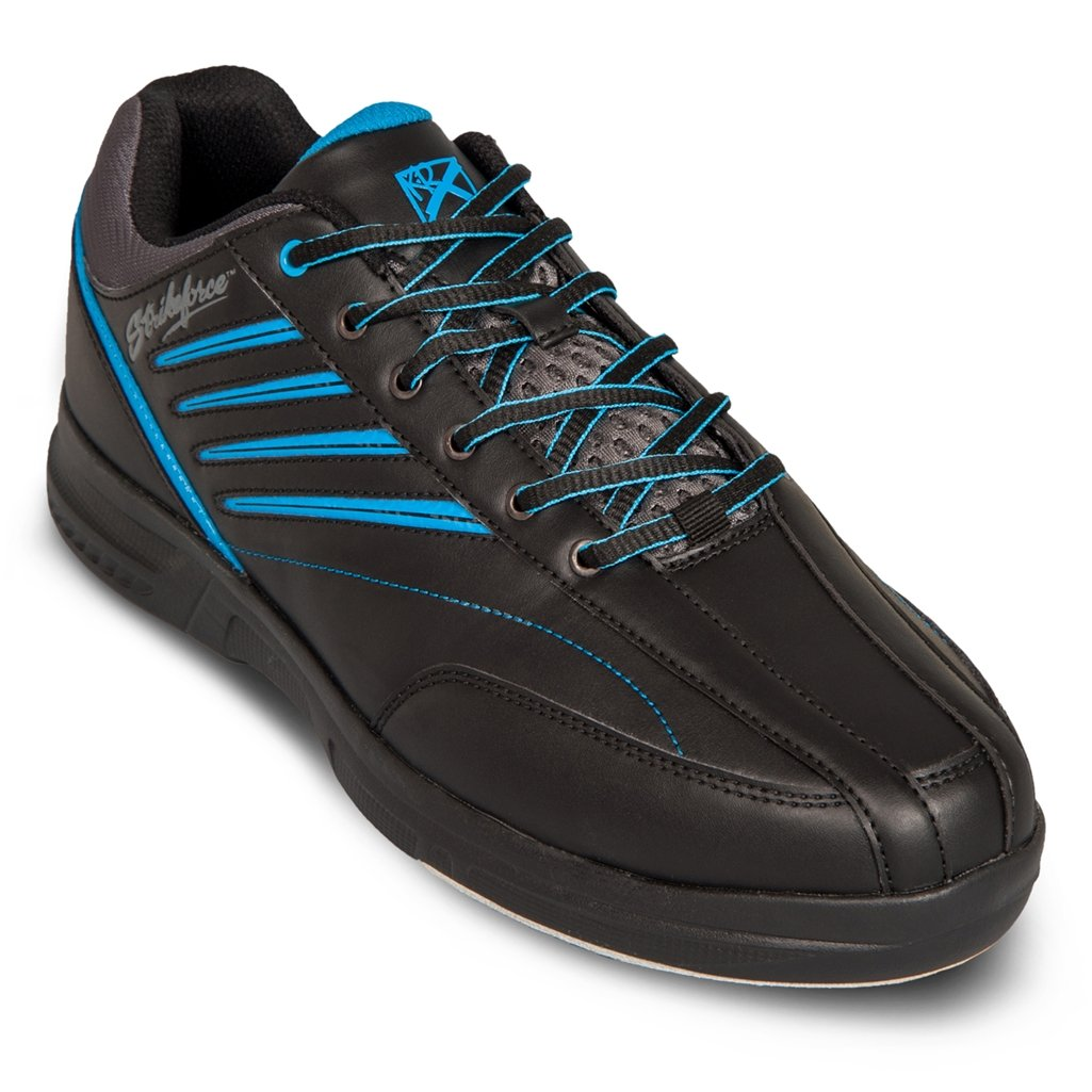 KR Strikeforce Men's Crossfire Lite Bowling Shoes, Black/Nautical Blue, 11