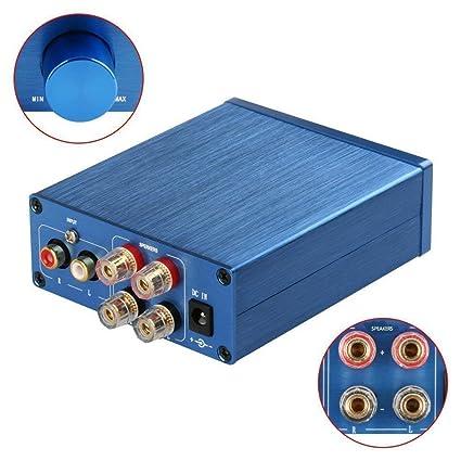 2 canales de clase D mini amplificador para los altavoces caseros 100W + adaptador de corriente