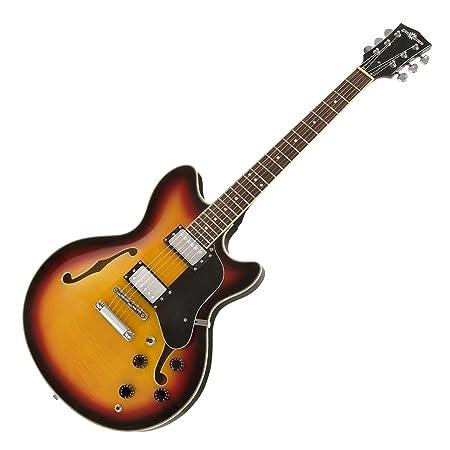 Guitarra Semiacústica San Francisco + Pack de Ampli SubZero V15G - Sunburst: Amazon.es: Instrumentos musicales