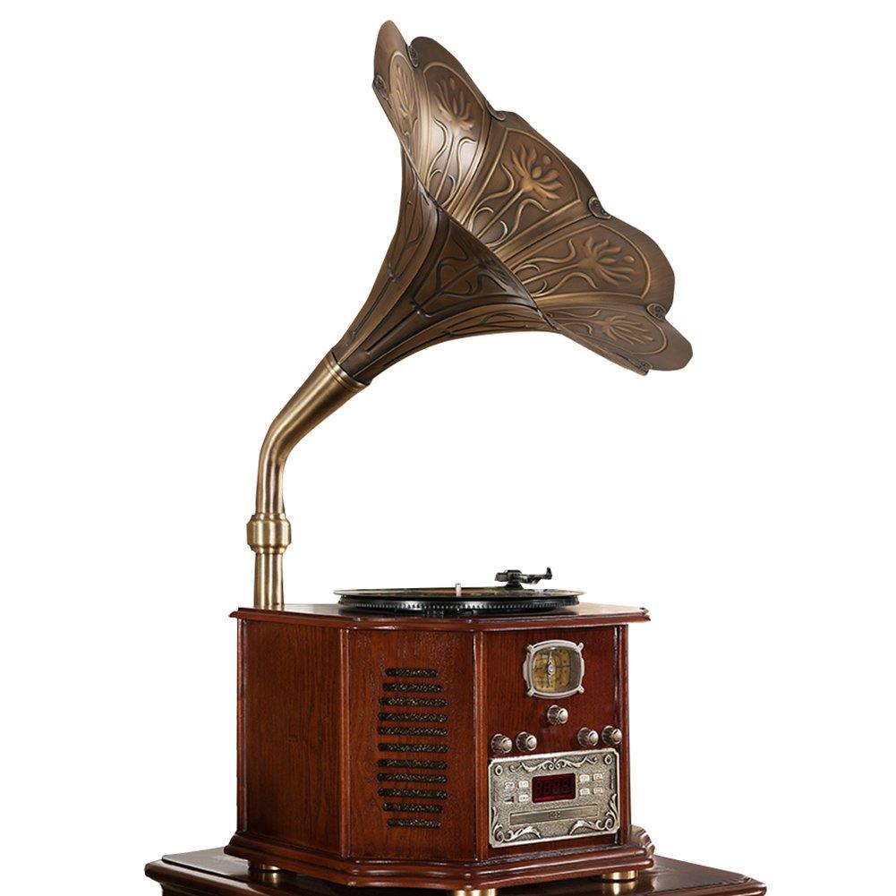 Sitang Hierro de época tocadiscos antiguo gramófono retro MLG662A