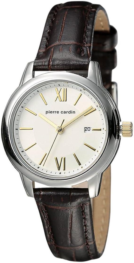 Pierre Cardin - Reloj de Pulsera analógico para Hombre, Cuarzo, Piel