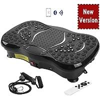 AGM Plateforme Vibrante Oscillante, Pateforme Vibrante Professionnelle Home Vibration Mixte Plate Fitness avec Bluetooth Haut-Parleurs Musique, 150KG Capacité