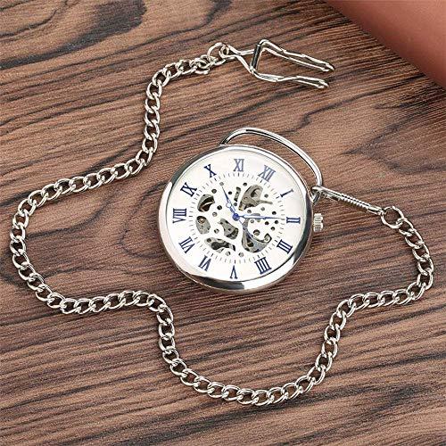 YGB fickur romerska siffror mekanisk klocka handlindad steampunk cool ficka hänge klocka för män kvinnor med kedja