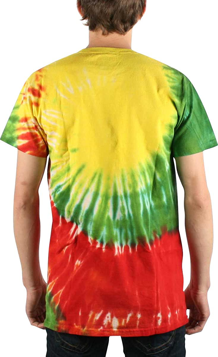 Bob Marley - Hombres camiseta Rasta Smoke En Tie Dye, X-Large, Tie ...