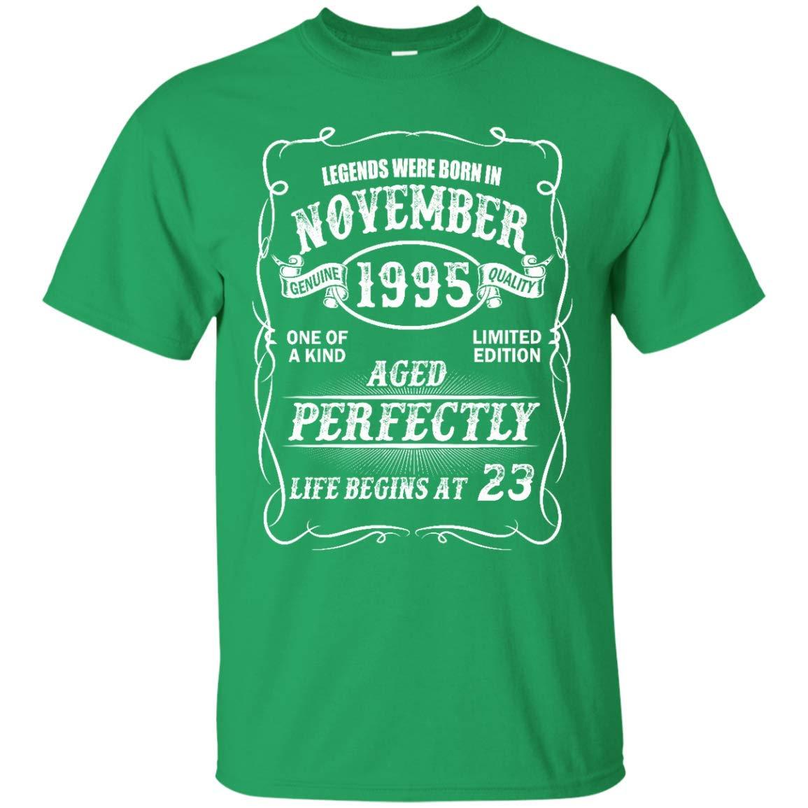 Awesome Shirts Funny Legends November 1995 Life Begins at 23