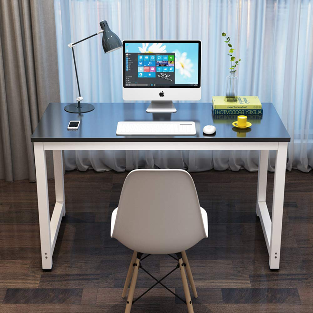 Toolsempire 47'' Office Computer Desk PC Laptop Dining Table Study Writing Desk Workstation for Home Office Furniture (Black) by Toolsempire