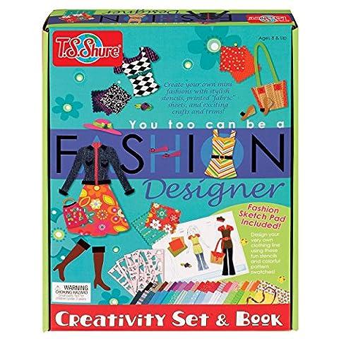 T.S. Shure You Too Can be a Fashion Designer Creativity Set & Book - Fashion Design Set