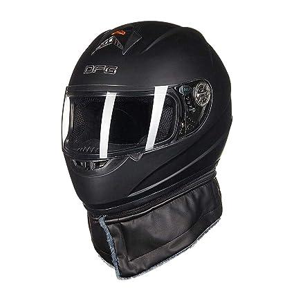 Casco de moto para hombre y mujer, cubierta de cara completa, personalidad para cuatro