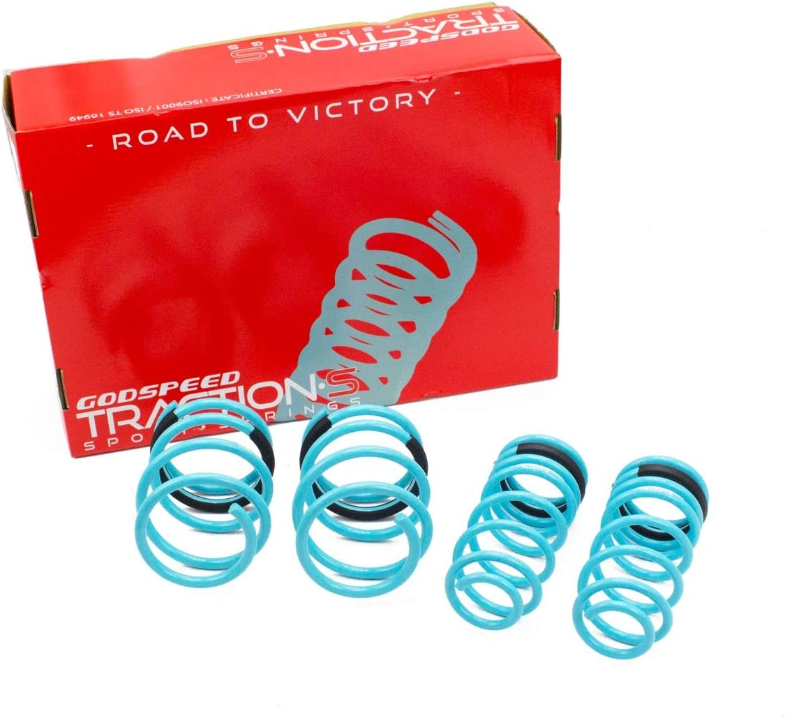 Godspeed LS-TS-MC-0002 Traction-S Performance Lowering Springs, Reduce Body Roll, Improved Handling, Set of 4, compatible with MINI Cooper/Cooper S (R50/R53) 2002-06