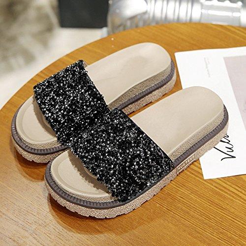 Black chaussures Tongs de portés sont été femmes en IANGL 8qTwdE5xq