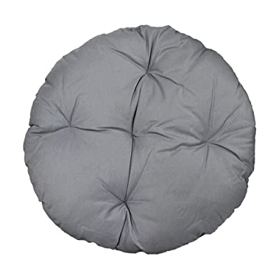"DBM IMPORTS 44"" x 6"" Round Indoor/Outdoor Gray Polyester Replacement Cushion Pillow Sunbed Papasan Wicker Swing Chair : Garden & Outdoor"