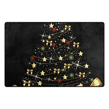 pengyong gold christmas ornament non slip floor mat home decor door carpet entry rug door - Amazon Christmas Decorations Indoor