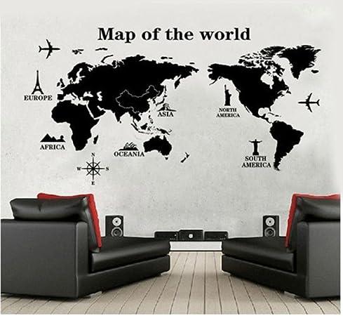Stickers Murali Camera Da Letto.Wall Sticker Ddlbiz Viaggiare In Tutto Il Mondo Mappa Del