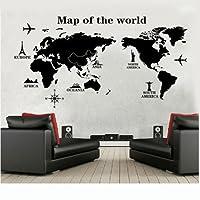 Wall Sticker, DDLBiz®Viaggiare In Tutto Il Mondo Mappa del Mondo Adesivi Murali, Camera da Letto Soggiorno Adesivi da Parete Removibili/Stickers Murali/Decorazione Murale