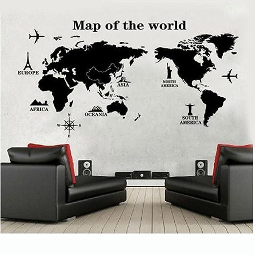 """42 opinioni per Wall Sticker, DDLBiz® """"Viaggiare In Tutto Il Mondo"""" Mappa del Mondo Adesivi"""