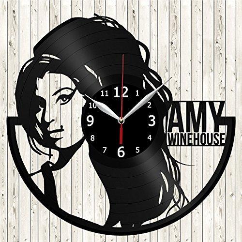 Amy Winehouse Singer Music Vinyl Record Wall Clock Decor Handmade Unique Original Gift