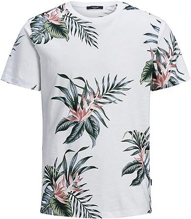 Jack & Jones - Camiseta para Hombre, diseño de Flores Blanco XL …: Amazon.es: Ropa y accesorios