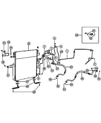 Amazon Com Mopar 6809 2250ad Ac Refrigerant Discharge Hose